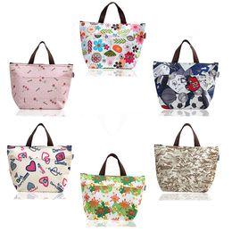 Bolsa de piquenique on-line-Flor Oxford piquenique térmica Lunch Bag Neoprene Bag Food mais frias bolsas térmicas Mulheres Handbag Mulheres Messenger Bags T2I002