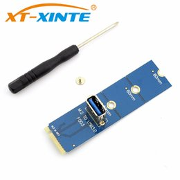 Wholesale Vga Adapter Card - F23390 NGFF M.2 to PCI-E X16 Slot Transfer Card Mining Pcie Riser Card VGA Extension Cable Minner Extender Graphics Adapter Card