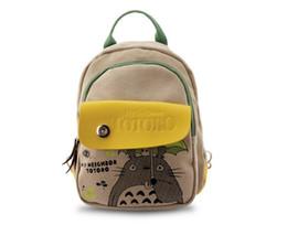 Wholesale Totoro School Backpack - 2018 New Fashion Women Anime Totoro Backpack Printing Travel Girl School Backpack