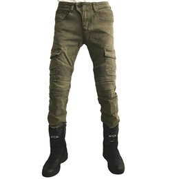 Pantalones gratis online-K Las últimas ventas calientes de los pantalones vaqueros de la motocicleta Envío gratis para pantalones fuera de la carretera de la motocicleta de la motocicleta pantalones vaqueros motor racing pantalones rectos
