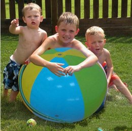 Wholesale Big Play Balls - HOT Inflatable Beach Water Ball Outdoor Sprinkler Summer Inflatable Water Spray Balloon Outdoors Play In The Water Beach Ball free ship