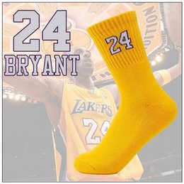 Wholesale Cotton Compression Socks Women - 2pcs pair USA Professional Basketball Socks Long Knee Athletic Sports Socks Men Compression Thermal Socks With Number CCA8951 30pair