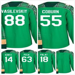 2018 St. Patrick Tampa Bay Lightning 88 Andrei Vasilevskiy Hockey Jersey  Blank 63 Matthew Peca 14 Chris Kunitz Ondrej Palat Braydon Coburn 0b398d865