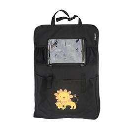 2019 tasche tablet-tasche Multifunktionale Autositz Zurück Organizer Cartoon Paerned 600D Multi-Pocket Auto Reise Aufbewahrungstasche Transparente Tablet Halter rabatt tasche tablet-tasche