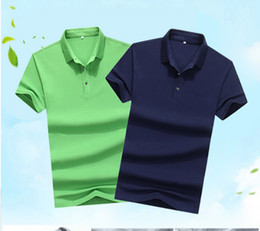 Wholesale wholesale men polo - Man Summer Knitted Polo Pure Color Polo Shirt Comfortable Breathable Summer Casual Turn Down Polo Shirt