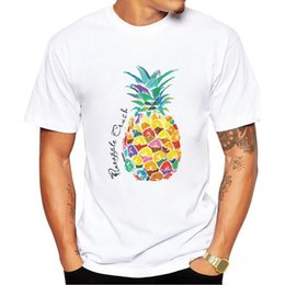 Argentina 2018New Pineapple fruit Print T-shirt Men's Fashion T-shirt Tops Clothes Men's Accessories Suministro