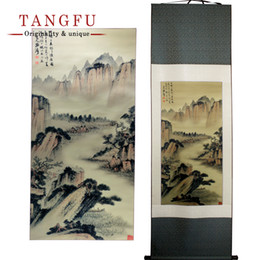 Wholesale Interior Wall Paintings Pictures - Silk Scroll Painting Famous art picture Interior painting Chinese Painting hotel office wall hanging DIY vintage gift home decor