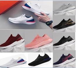 Wholesale Womens Casual Walking Shoes - 2018 New Epic React Men casual Shoes For Men Sneaker Womens Fashion Athletic Sport Shoe Hot Corss Hiking Jogging Walking Black Blue Shoes