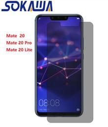 protección de pantalla de cristal premium Rebajas Antirreflejo para Huawei Mate 20 Pro Mate 20 Lite Privacidad Protector de pantalla de vidrio frontal de cristal templado