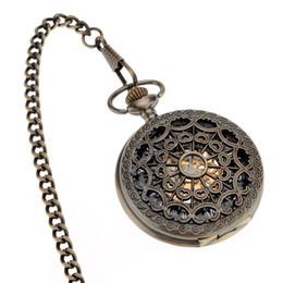 Canada femmes \ hommes rétro évider Twelve constellations bronze \ argent assiette collier chaîne infirmière mécanique montres de poche \ zak horloge avec boîte Offre