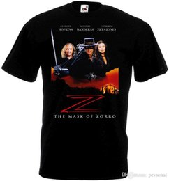 máscara preta zorro Desconto 2018 melhor camisetas A máscara do cartaz do filme do preto do t-shirt de Zorro todos os tamanhos S… estilo novo de 5XLShort Camiseta