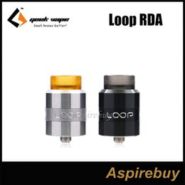 Wholesale Dual Loop - GeekVape Loop RDA Atomizer Unique W Shaped Build Deck Support both Single and Dual Coils Build Surround Airflow System 100% Original