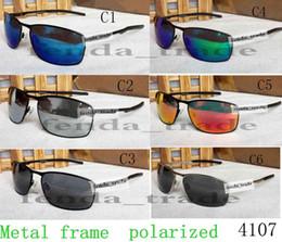 f5ad613f6b0151 2018 Neue Marke Metall Sport Sonnenbrille Designer Polarisierte Brillen  Männer Frauen Mode 4107 Kleine rahmen Sonnenbrille Mode-accessoires günstig  kleine ...