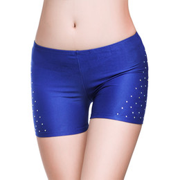 Wholesale Hot Lingerie Dance - Sexy Hot Short Rhinestone Safety Shorts belly dancing pants belly dance Costume skirt Pant Underwear lingerie Pant