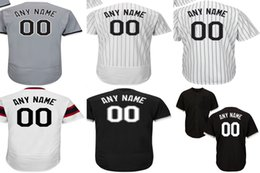 Wholesale Womens Army Shorts - Personalized Mens Womens Kids Toddlers Chicago White Jersey Customized Any name Number Grey Black Baseball Jerseys Shirt XS-6XL
