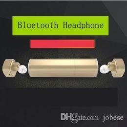 Wholesale Apple Power Socket - Mini Twins True Bluetooth Headphones Wireless Earbuds with 500mA 900mA Charging Socket Power Bank In-Ear Stereo Headset 2017 New Design