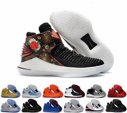 Wholesale Chinese Thread - 2018 New Air 32 Chinese New Year Men Basketball Shoes High Quality Airs XXXII Retros 32s Hornets Mens Trainers Sports Sneakers Size 40-46