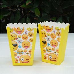 Мультфильм улыбка Emoji мультфильм попкорн коробка чехол подарочная коробка пользу тема день рождения событие поставки от