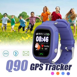 gps wifi smart watch Promo Codes - Q90 Kids Bluetooth SmartWatches Smart Watch for Children With GPS WIFI LBS Locate Anti-Lost For IOS And Android Smartphone With Retail Box