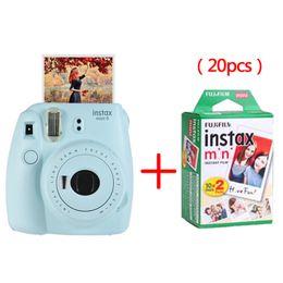 Wholesale Instax Camera Film - Fujifilm Instax Mini 9 Instant Printing Camera With 20 Sheets Twin Pack Fuji Film Photo Paper for Mini 8 7s 25 50s 90