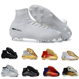 Wholesale World Cup Soccer Shoes - World Cup 2018 Men Mercurial Superfly CR7 AG FG Football Boots Ronaldo High Ankle Women Magista Obra ACC Soccer Shoes Neymar JR Phantom