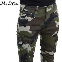 Pantalones del ejército de las mujeres leggings online-2017 Otoño Mujeres Pantalones Lápiz Camuflaje Ejército Verde Slim Bodycon Chica Pantalones Leggings Femme Joggers Pantalones Mujer 26 ~ 34