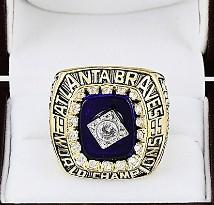 Wholesale Brave Jewelry - Newest Men fashion jewelry 1995 Atlanta Braves championship ring alloy sports fans collection souvenirs Christmas gift