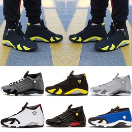 Wholesale Cheap Shoot - With Box Cheap 2018 Basketball Shoes Retro 14 Sneakers Men Black toe Black grey Indiglo Last shot Thunder Wolf grey Homme Retro Shoes