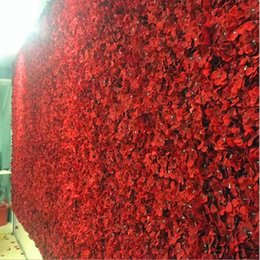 Wholesale character background - Artificial Hydrangea Flower Wall Size About 40*60cm Creative Wedding Stage Props Silk Rose Tracery Wall Encryption Floral Background