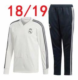 Wholesale real madrid tracksuit - thai quality 18 19 Real Madrid Soccer Tracksuit Jacket 2019 survetement Ronaldo Jogging camiseta de futbol Adults Training suit sweater