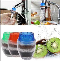 Cucina dell'acqua online-Filtro dell'acqua riutilizzabile Rubinetto da cucina per uso domestico Depuratore d'acqua a carbone attivo Filtro depuratore d'acqua KKA5858