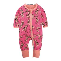 Pigiama per neonato in cotone a maniche lunghe in cotone con stampa di cartoni animati per neonati da grossisti per abbigliamento boutique per bambini fornitori