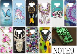 glow notes Coupons - For Iphone XS MAX XR Galaxy NOTE 9 (J3 J4 J6 J7 J8 A6 )2018 Skull Glow In Dark Luminous Flower Soft TPU Case Skull Dreamcatcher Owl Unicorn