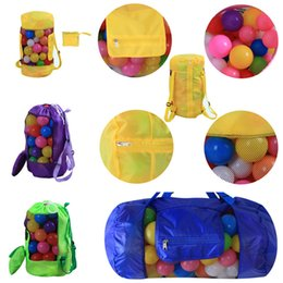 Wholesale collapsible storage bags - 16 Colors Shell Shape Beach bag Outdoor travel package Collapsible Bag Outdoor children's backpack Travel Insert Storage Bags T1I341