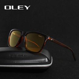 4d125cefcd OLEY Men Polarized Night Driving Sunglasses Mujer Diseñador de la marca  Lente amarilla Visión nocturna Gafas de conducción Gafas Reducir el  deslumbramiento
