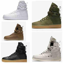 Wholesale Urban Boots - 2017 New Men Women High Air FoRc 1 One SF Casual Shoes Fashion Unisex Special Field Urban Utility Boots Sneakers Sports Shoes 36-45