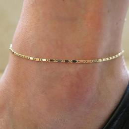 Nude jewelry online-Moda donna semplice catena d'oro cavigliera braccialetto a piedi nudi sandalo spiaggia piede gioielli