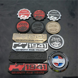 Taxas de carros on-line-3D de metal personalidade adesivos de carro temble badge 1941 trail rated 4x4 adesivo crachá para carro Jeep acessórios