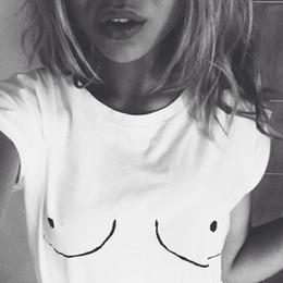 2019 tit 2016 baumwolle Frauen t-shirt Weiß Tit T Brust Gedruckt T-Shirt Emoji Tees Straße Boob Harajuku Frauen T-shirt M-3XL rabatt tit