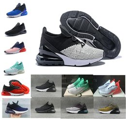 Wholesale fly leather - 2018 New Arrival 270 Knit Fly Casual Shoes for High quality 270s deep blueYellow White Red Men&women Sports Sneakers Outdoors Size 36-45