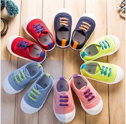 Zapatos coreanos de la marea de la primavera 2017 zapatos de los niños, zapatos de lona, zapatos de los bebés y de los muchachos zapatos de los niños para los años 1-3 años desde fabricantes