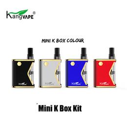 Mini caixas cerâmicas on-line-Autêntico Kangvape Mini K Caixa de Starter Kit 400 mAh Vaporizador Vape Mod Para 510 Fio 0.5 ml Cartucho De Cerâmica Atomizador 100% Original
