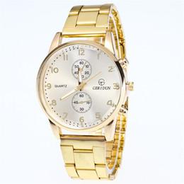 Wholesale Modern Metal Clock - 2018 New Famous Brand Luxury Golden Casual Quartz Watch Women Metal Stainless Steel Dress Watches Relogio Feminino Clock,3 Color