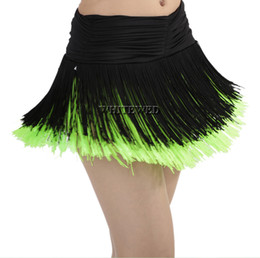Wholesale Ladies Latin Dance Skirts - Lady Fringed Mini Latin Tango Salsa Ballroom Dance Stage Practice Fringe Ballroom Latin Salsa Dance Performance Skirts for Women Adults