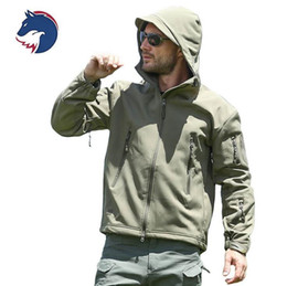 330142a043e62 Shark Men Tactical Clothing Autumn Winter Fleece Army Jacket Softshell Outdoor  Hunting Clothing Camouflage Jacket Men Hooded Warm Coat X3239 warm hunting  ...