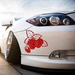 Lastwagen heckscheibenabziehbilder online-Strawberries Food Erdbeerfrucht Auto LKW Fenster Laptop Vinyl Aufkleber Aufkleber Heckscheibe Auto Aufkleber