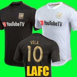 Wholesale Away Man - Thailand quality 2018 Carlos Vela Los Angles FC Soccer Jerseys 18 19 Home away LAFC GABER ROSSI CIMAN ZIMMERMAN Black Football soccer Shirt