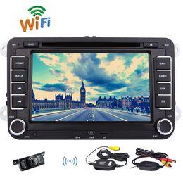 2019 dvd de passat Cámara de marcha atrás inalámbrica + EinCar Android 6.0 Reproductor de DVD para VW PASSAT CC PASSAT Golf 7 '' Pantalla táctil capacitiva Doble Din Estéreo para automóvil rebajas dvd de passat