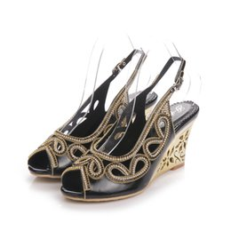 Wholesale Brides Mother Shoes - Dropshipping Customized Sexy Peep Toe Women Sandals Gorgeous Black Rhinestone Mother of the Bride Shoes Sapatas do partido