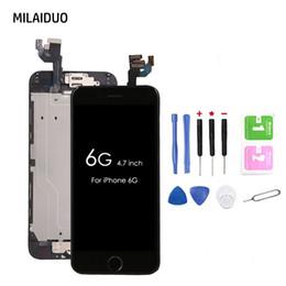 2019 ушные камеры Для iPhone 6 6G ЖК-дисплей с сенсорным экраном дигитайзер полная замена Ассамблеи + главная кнопка + фронтальная камера + динамик уха + инструменты дешево ушные камеры
